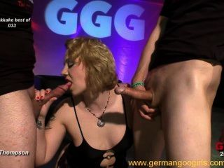 Nasty German Chicks In Hardcore Bukkake Orgies
