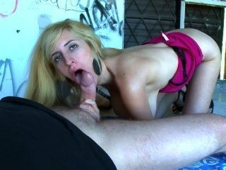 Skinny French Babe With Huge Tits Fucks Outdoor With A Friend