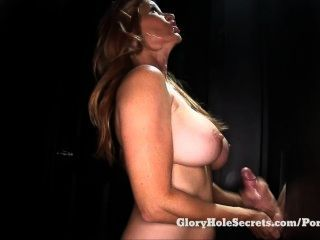 Gloryhole Secrets Milf Tabitha Sucking Strangers And Swallowing Their Cum