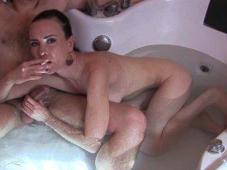 Smoking Blowjob&facial-bathtube Fetish By Sylvia Chrystall.pornart Part I.