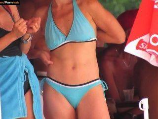 Hot Bikini Teens At The Pool Candid Voyeur Hd