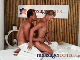 Massage Rooms Sexy Tight Teen Blondes Get Wet With Hardcore Fucking