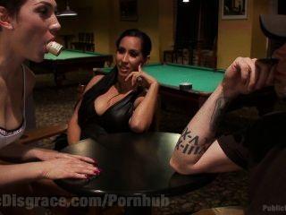Lying Slut Gets Disgraced In Pool Hall