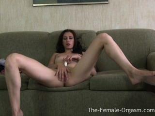 Newbie Coed First Real Female Masturbation To Orgasm Shoot