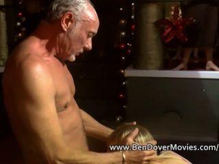 Grandpa Ben Fucks A Cute Cuffed Teen Blonde