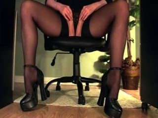 Compilation Of A Secretary Masturbating With An Under Desk View