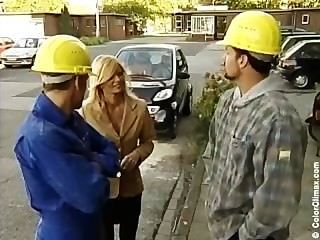 Nicolette Blue - German Cheating Housewife Fucked By Two Workers