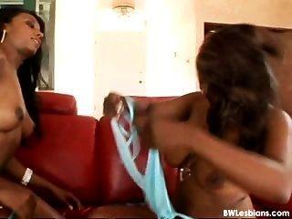Black And White Lesbian Threesome