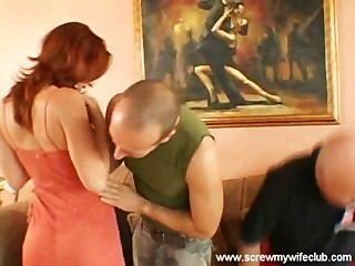 Hubby Watched Wife Fucked By 2 Hard Dicks