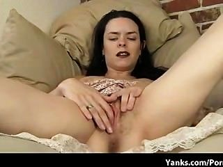 Lucia Pulls Up Her Dress To Show Clit Piercing