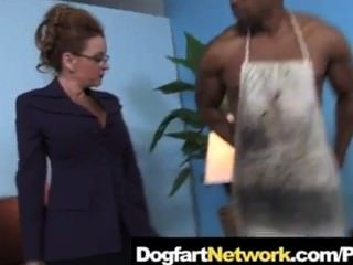 Cougar Fucks A Huge Black Monster Cock