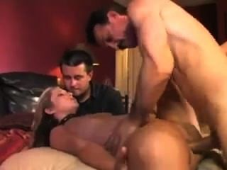 Husband Letting Guys Take Turns To Cum In His Wife