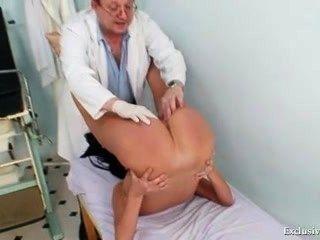Blonde Big Tits Milf Spreading Pussy On Gynochair