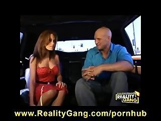 girl gets fucked in limo