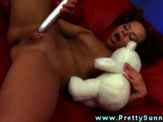 Naive Young Ginger Plays With Sextoys