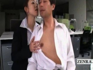 Subtitled Japanese Office Escort Cfnm Near Disaster