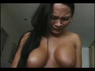 Hot Asian Rides A Vibrating Toy And Orgasms