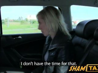 Czech Blonde Girl Scammed During Taxi Drive And Must Pay With Sex