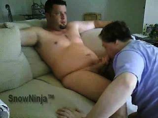 Straight Guy Serviced - Husky Blowjob