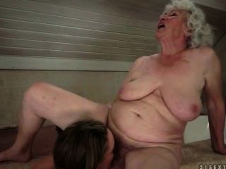Lesbian Sex Between Grannie And Teens