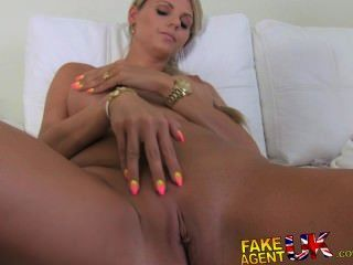 Fakeagentuk Stunning Blonde Czech Chick Falls For Fake Sex Casting