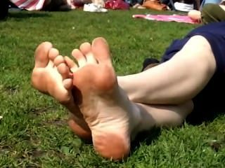 Lick And Clean Her Dirty Soles At The Park
