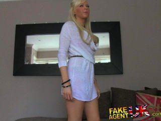Fakeagentuk English Blue Eyed Beauty Spoils Agents Cock