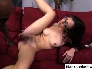 Black Monster Cock Violates White Sluts Ass