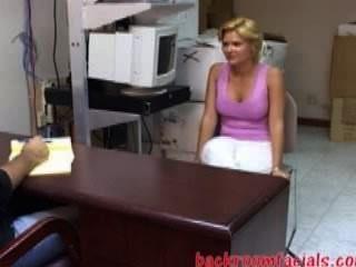Young Blonde Faith Cam To Job-interview-damn This Girl Is A Weird?!
