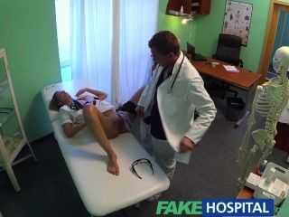 Fake Hospital Hot Nurse Rims Her Way To A Raise