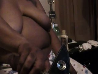 Black Granny Sucking On A Young Pipe
