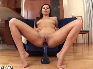 Monica B Playing With A Big Dildo