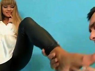 Gorgeous Russian Blonde Gets Fucked In Wetlook Leggings