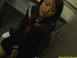 Schoolgirl Giving Blojwob On Her Knees Cum To Mouth In The Locker Room