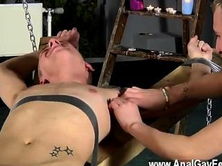 Male Models Dean Gets Tickled, Super-steamy Paraffin Wax Poured Over His