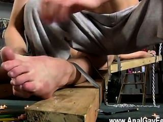 Gay Cock Dean Gets Tickled, Red-hot Wax Poured Over His Fragile Man-meat
