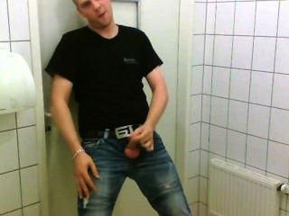 Man Jerk Off In Public Toilet
