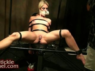 Gagged With Wet Panties, Pussy Tickled