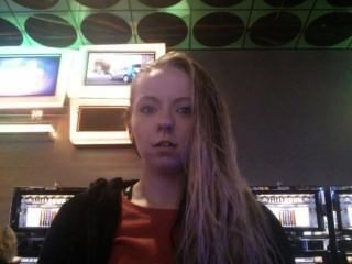 Ashley Smokes At The Casino.