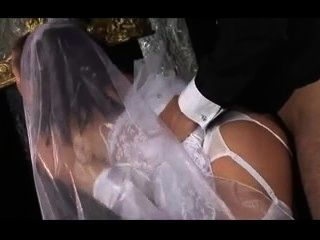 British Bride Gets Fucked In White Stockings