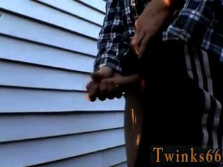 Hot Twink Scene Pissing And Jerking Out Some Hot Juice!