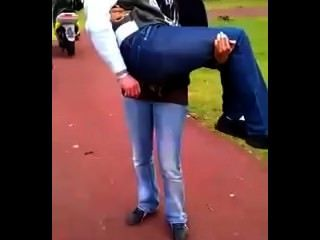 French Girl Lift And Carry