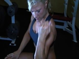 Blonde Working Out