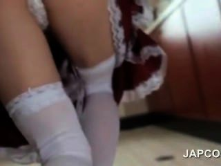 Cute Asian Maid Flashing Butt Upskirt Seduces Her Boss