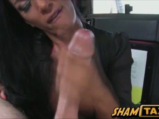 Passenger Fucked Hard In Taxi Cab And Jizzed In Her Face