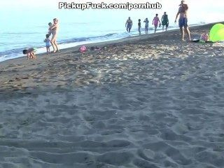 2 Guys Pick-up Girls On The Beach And Fuck Them