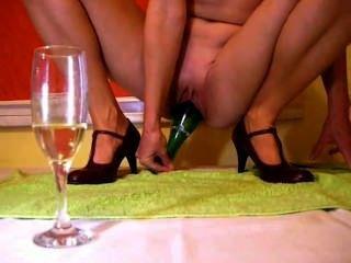 Champagne Bottle Inside Pussy
