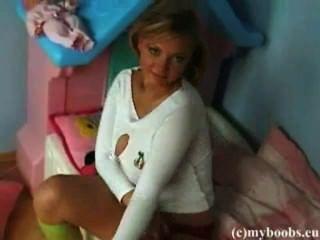 Busty Teen Malina May In Her Room