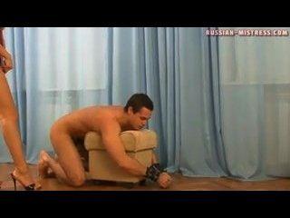 Russian Mistress - Slave Lick Mistress Anna Feet, Ass & Pussy