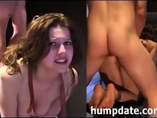 Anal Bondage On Stool (split Screen)
